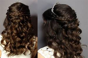 Prom/Sweet Sixteen Hair Tutorial: Half up Half Down Curly Updo MADSCustomHairDesign YouTube