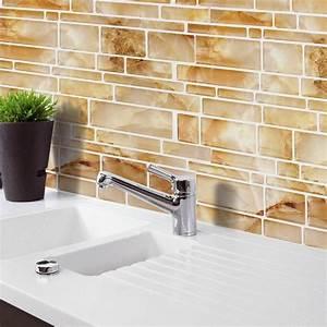 aliexpresscom acheter jaune imitation marbre decor a la With carrelage adhesif salle de bain avec numero de maison led