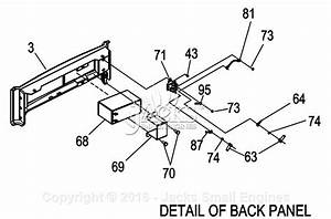 Generac 0057980  Xg7000e  Parts Diagram For Back Panel
