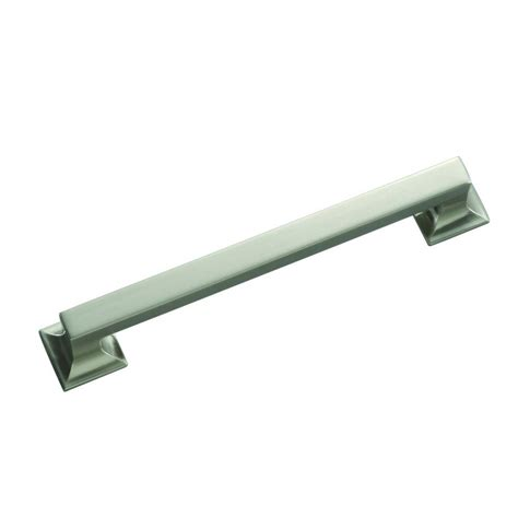 kitchen cabinets hickory hickory hardware studio collection 8 in satin nickel 3017