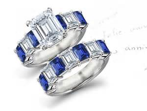 sapphire wedding rings affordable designer sapphire engagement wedding rings
