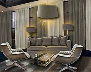 salon lin floriane lemarie With meuble salon couleur taupe 15 ipn table basse beton