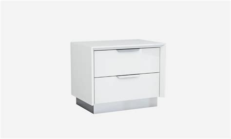 Contemporary White Nightstands by Lotus White Modern Nightstands Contemporary Nightstands