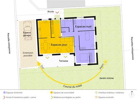 plan maison en l plain pied 3 chambres plan maison plain pied avec 3 chambres ooreka