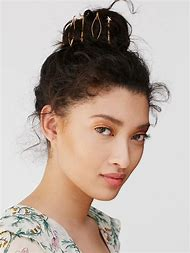 Woman in Bobby Pins