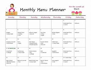 monthly menus images frompo 1 With monthly dinner menu template