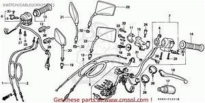 Honda Cmx250c Rebel 1996  T  Belgium    Kph Switch  Cable