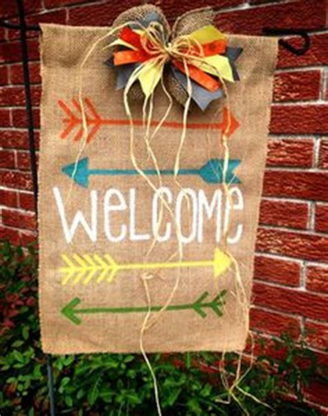 embroidered burlap garden flag there s no place like