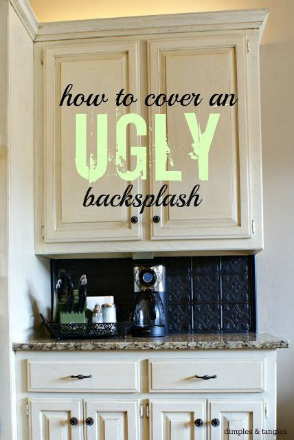 ideas    cover  ugly  outdated kitchen