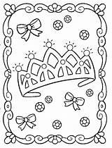 Coloring Tiara Pages Princess Popular sketch template