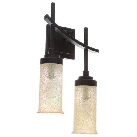hton bay 18012 2 light iron oxide sconce vip outlet