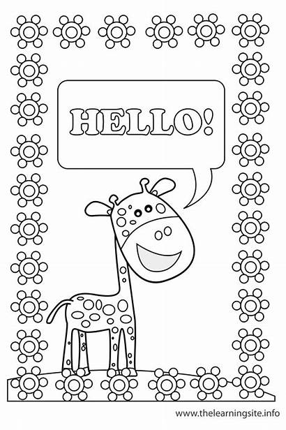 Outline Poster Classroom Coloring Objects Flashcard Flashcards