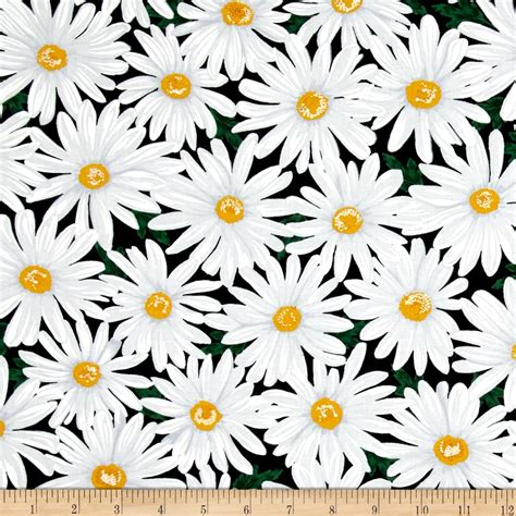 timeless treasures live love laugh packed daisy black discount designer fabric fabric com