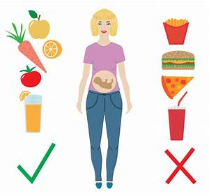 Pregnant Woman Eating Illustrations  Royalty