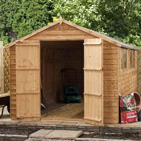 used sheds 10 x 6 wooden garden shed apex large 10ft x 6ft wood sheds