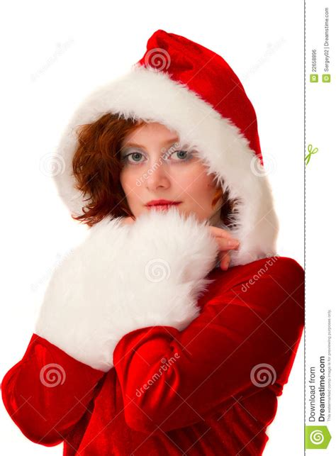 Santa Claus With Maiden In Bright Clothes Stock Maiden Royalty Free Stock Image Image 22658896