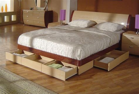 king size platform bed with storage drawers camas con cajones blogdecoraciones