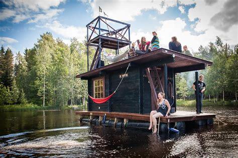 Boat House Ta by Saunalautta Floating Sauna Houseboat Is A Cruise Worthy
