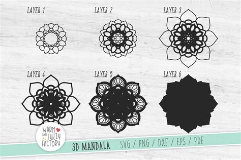 3d pumpkin mandala svg 1. 3D Mandala SVG, 3D Layered Mandala SVG | CUT FILE (543548 ...