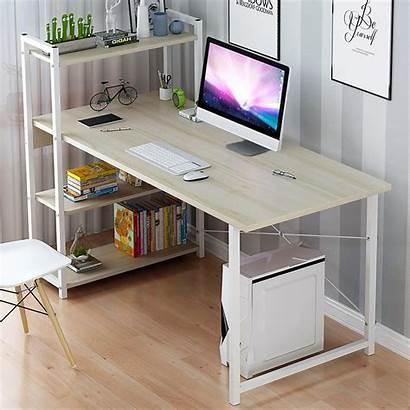 Desk Computer Office Shelves Laptop Study Bookshelf