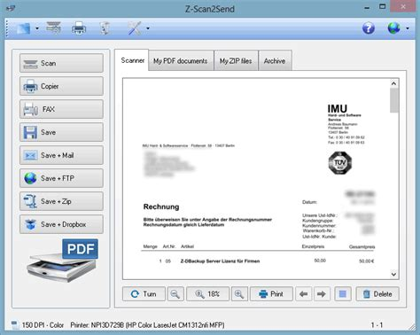 scan   scanner software  scansend