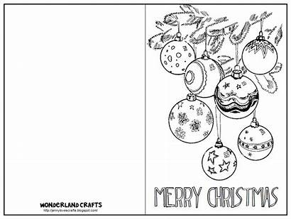 Christmas Cards Card Printable Coloring Template Pages