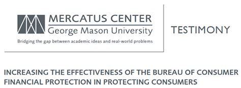 increasing the effectiveness of the bureau of consumer financial protection in protecting