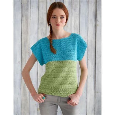 color top crochet summer colorblock top allfreecrochet