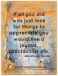 Appreciate = jo... Life Spectacular Quotes