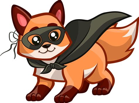 Pencil And In Color Fox Clipart
