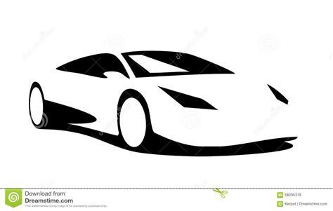sport car silhouette stock vector image