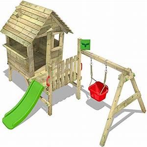 Sandkasten Kunststoff Xxl : fatmoose stelzenhaus vanillavilla joy xxl spielhaus mit rutsche veranda und schaukelanbau ~ Orissabook.com Haus und Dekorationen