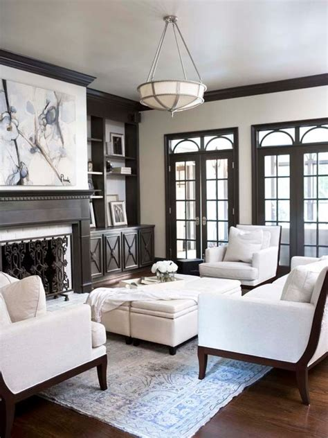 Living Room Window Trim Ideas by Gray Built Ins Transitional Living Room