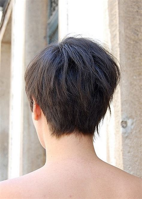 Short Asymmetrical Bob Back View   <a href=