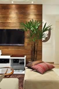 wohnzimmer mit einem fernseher dekorative deko pflanze schaffen sie eine gemütliche - Holzwand Wohnzimmer