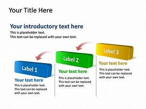Powerpoint Slide - Diagram Step - 3d - Multicolor - 3 Steps