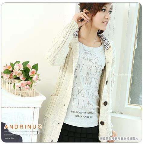 winter hair style hooded cable knit cardigan 4511