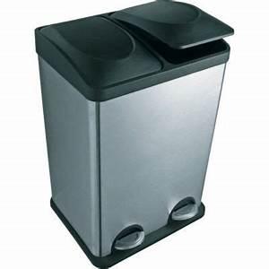 Poubelle De Tri Selectif : poubelle tri s lectif p dale duo castorama ~ Farleysfitness.com Idées de Décoration