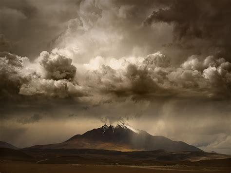 Landscape, Nature, Mountain, Clouds, Storm, Sky, Huge