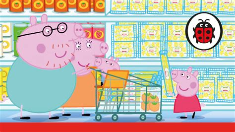 Peppa Pig Let's Go Shopping Peppa Storybook Youtube