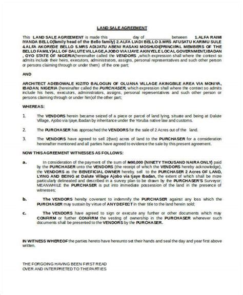 land contract templates  word  format