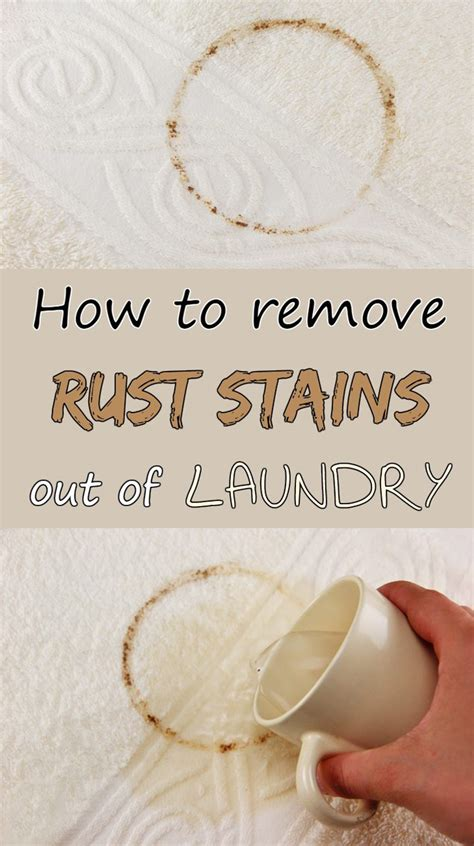 How To Remove Rust Stains Out Of Laundry 101cleaningtipsnet