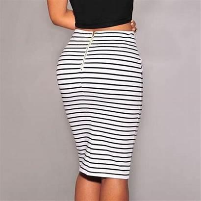 Pencil Skirts Summer Skirt Mini Plus Waist