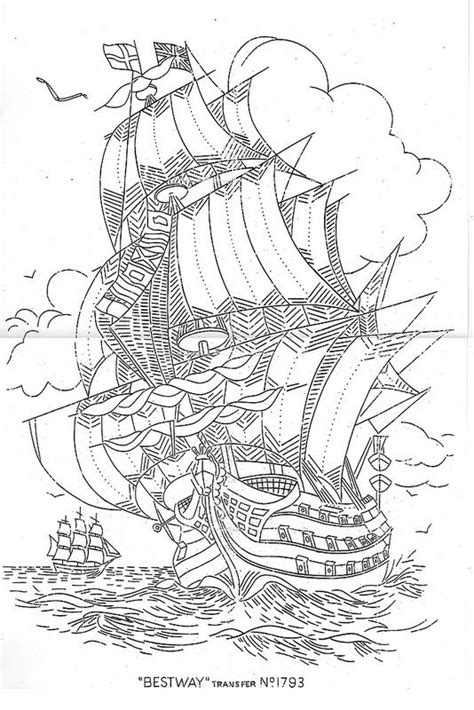 Galleon 1793 | Coloring book art, Coloring pages, Adult coloring pages