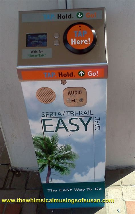 Easy card account balance information. The Whimsical Musings of Susan: Tri-Rail: A Great Public Transportation Option