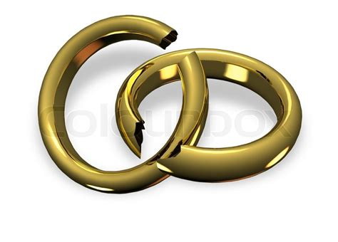 broken wedding rings in divorce stock photo colourbox