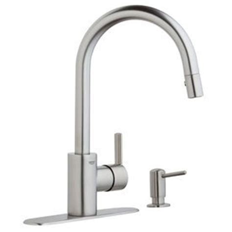 grohe kitchen faucets amazon grohe feel chrome 1 handle pull kitchen faucet