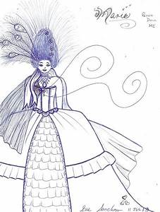 Marie Antoinette Free Colouring Pages