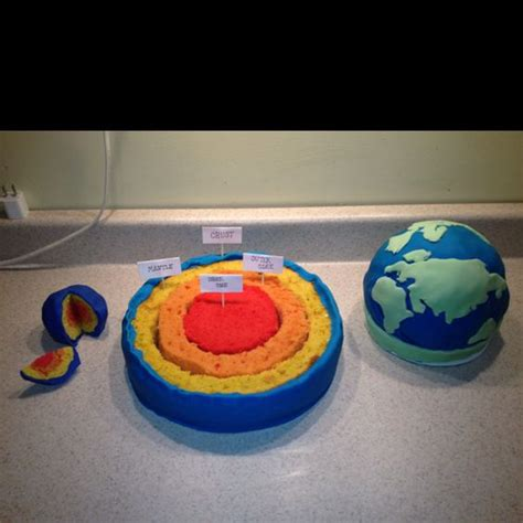 earth cake  earth  science projects  pinterest
