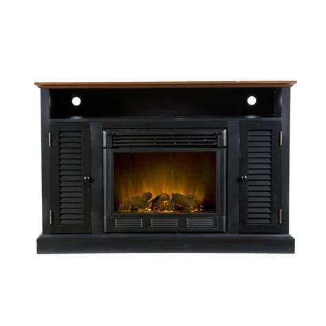 media console electric fireplace sei antebellum media console with electric
